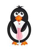 Penguin and milkshake — Stock Vector