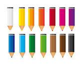 Small colored pencils — Stock Vector