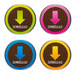 Cute download  buttons — Stock Vector