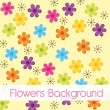 Flower cartoons background — Stock Vector
