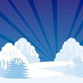 Winter shrubbery — Stock Vector