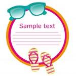 Sunglasses and flip flops — Stock Vector #7621631
