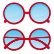 Red nerd glasses — Stock Vector