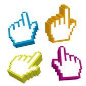 3d cursor hand — Stock Vector