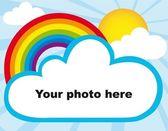 Rainbow photoframe — Stock Vector