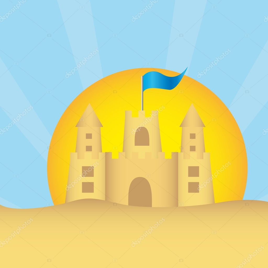 Displaying 20> Images For - Cartoon Sandcastle...