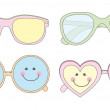 Cute sunglasses — Stock Vector
