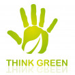 Think green — Stock Vector #7960825