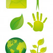 Green icons — Stock Vector #7960935