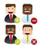 Iconos de empresario — Vector de stock