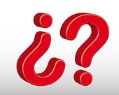 3d question sign — Stock Vector
