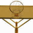 Stock Photo: Win: golden basketball backboard isolated