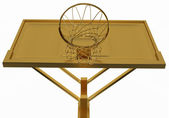 Win: golden basketball backboard isolated — Zdjęcie stockowe