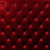 Buttoned on the red Texture. Repeat pattern — Stock Photo