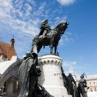 Statue of King Mathias (Matyas) in Cluj, Romania — Stock Photo