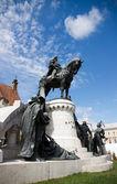 Statue of King Mathias (Matyas) in Cluj, Romania — Stock Photo