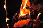 Glowing fire — Stock Photo