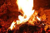 Warm fire — Stock Photo