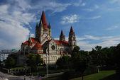 Panorama church vienna — Stock Photo