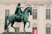 Equestrian monument vienna — Stock Photo