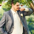 Happy young groom — Stock Photo