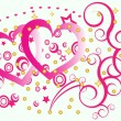 Royalty-Free Stock  : Hearts with swirls