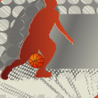 Royalty-Free Stock Vector Image: Crazy Circle Basketball Poster. Vector Illustration.
