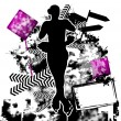 Figure Skating grunge template vector - Stock Vector