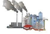 Ciudad y el desarrollo industrial — Foto de Stock