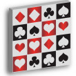Red, white and black ace cards — Stock Photo