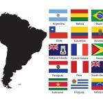 flagi merican południe — Zdjęcie stockowe