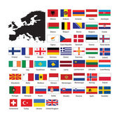Europe flags — Stock Photo
