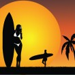 Tropical surfing paradise — Stock Photo