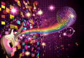 Music on colorfull background — Stock Photo