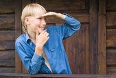 屋外の少年 — ストック写真