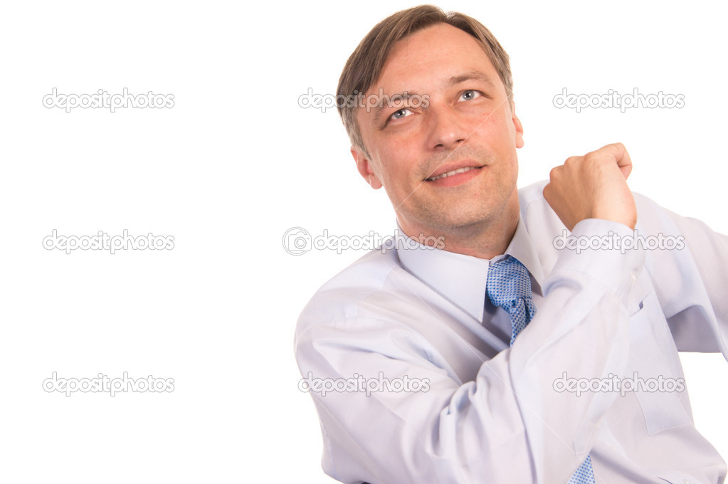 Portrait of a   businessman on a white — Stock Photo #6809025