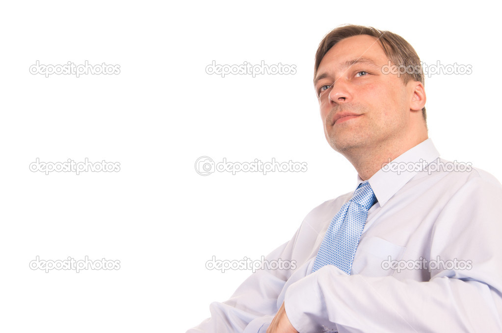 Portrait of a   businessman on a white  Stock Photo #6809078