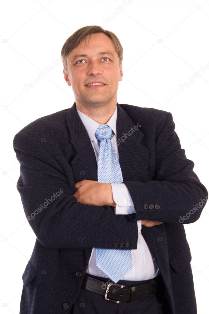 Portrait of a nice  businessman posing on white — Stock Photo #6809086