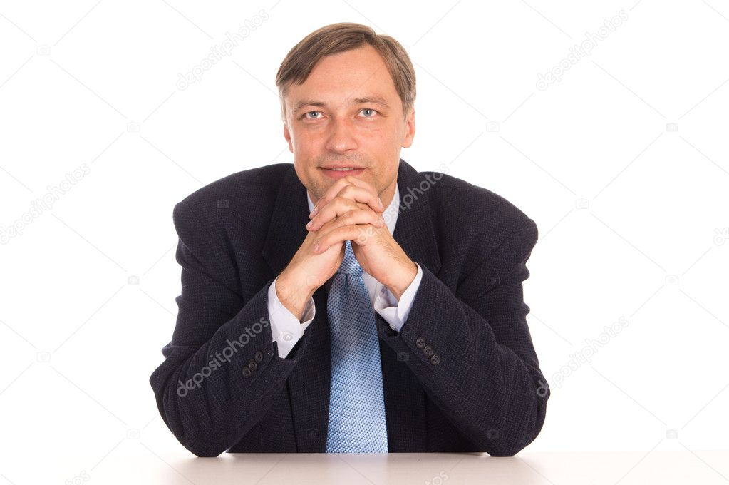 Portrait of a businessman posing on white  Stock Photo #6822587