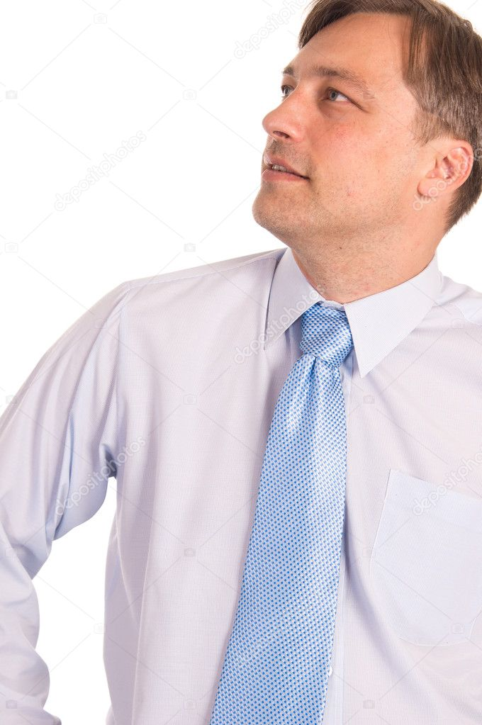 Portrait of a cute businessman on white — Stock Photo #6831465