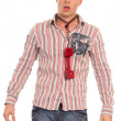 Guy with telephone — Stock Photo #6874250