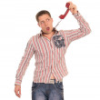 Guy with telephone — Stock Photo #6874259