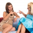 Girls at sofa — Stock Photo #6876483