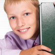 Pupil with book — Stock Photo