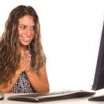 Nice girl at computer — Stock Photo #6877653