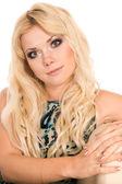 ładny portret blondynka — Zdjęcie stockowe