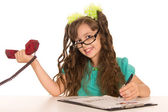 作業の小さな女の子 — ストック写真
