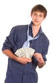 Homme avec argent — Photo