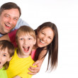 Family of a four on white — Stock Photo #6938541
