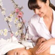 Cute girl at massage — Stock Photo